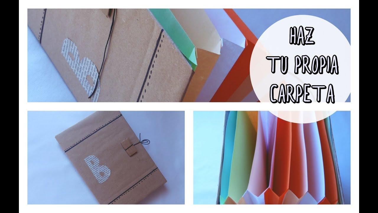 Cómo hacer tu propia carpeta, archivador o clasificador (Regalo día