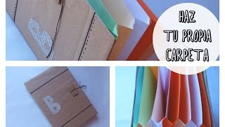 Cómo hacer tu propia carpeta, archivador o clasificador  (Regalo día del padre 2015, cumpleaños)