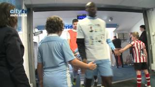 TUNNEL CAM: City v Sunderland - Behind the scenes at the Etihad Stadium - HD