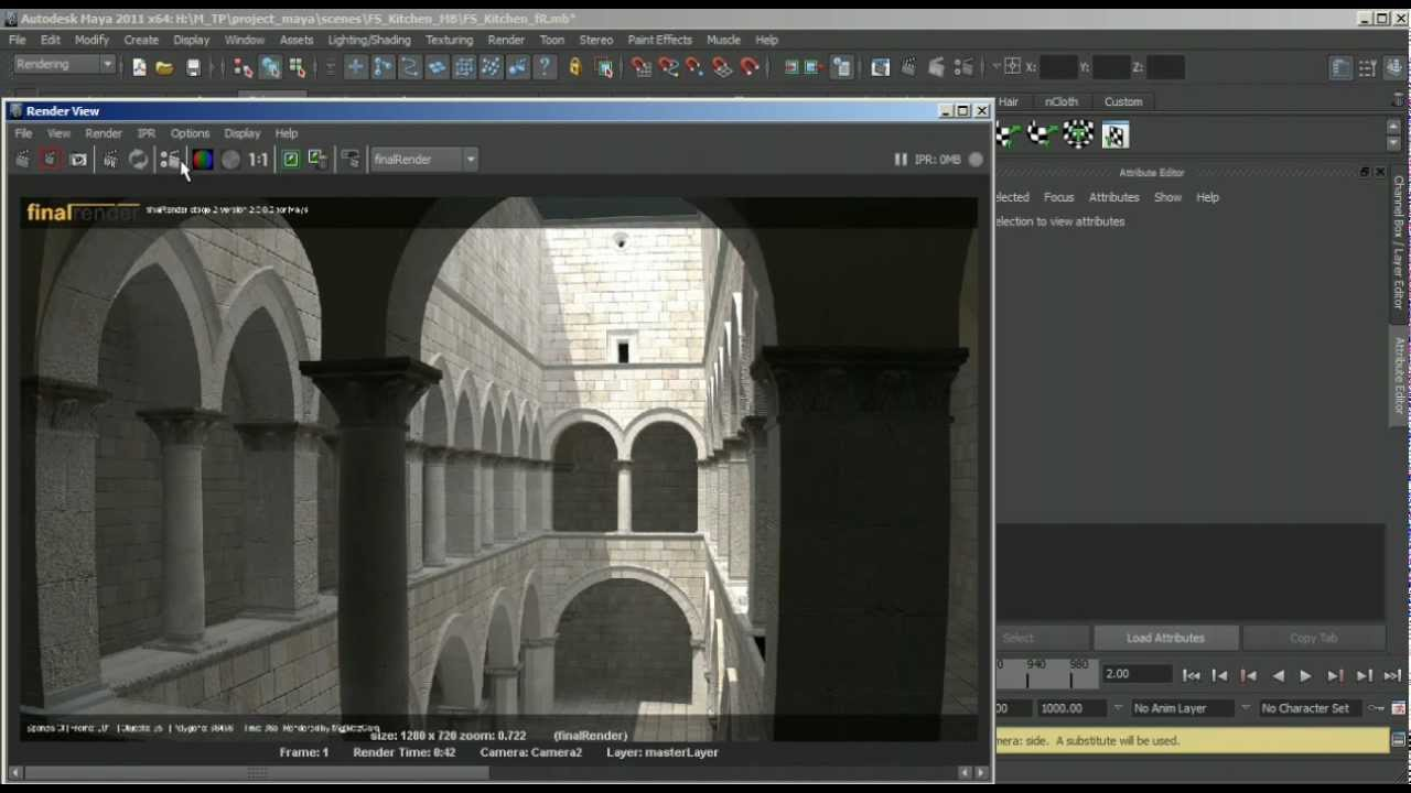 44 Cores (Buckets) - Distribute rendering feature on finalRender Stage-2 R2  for Maya