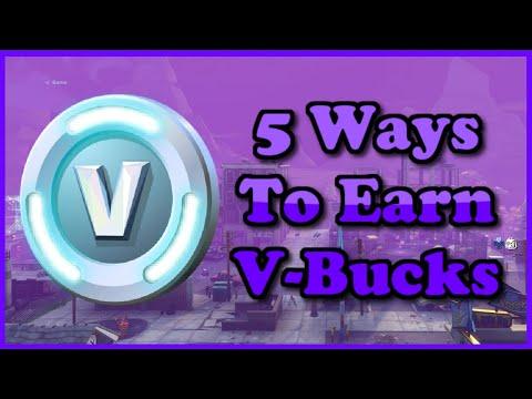 Fortnite No Way To Earn Vbucks Reddit 5 Ways To Get V Bucks From Fortnite Save The World In 2021 Youtube