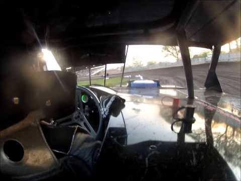 Matt Hoeft at Algona Raceway Feature in-car 5-18-2013