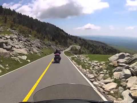 Motorcycle Ride up Grandfather Mountain