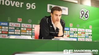 Pressekonferenz - Hannover 96 II gegen 1. FC Magdeburg 1:1 (0:0) - www.sportfotos-md.de