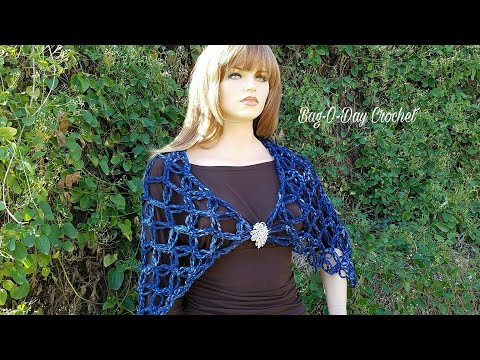 Learn How To Crochet Lovers Knot Solomon's Knot Wrap Shawl Cowl Crochet Tutorial  #434