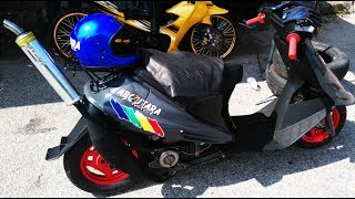 Scooter Dengan 125ZR Sprint Test Drag Racing Kubang Menerong March 2018