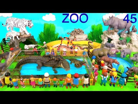 Wild Zoo Animal Toys For Kids - Learn Animal Names and Sounds - Learn Colors with Animals 45