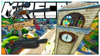 INFECTION MODDED MINECRAFT HUNGER GAMES ON FORTNITE TILTED TOWERS! - MINECRAFT MOD CHALLENGE