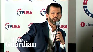 Donald Trump Jr 'triggered' by heckles and booing at his book launch