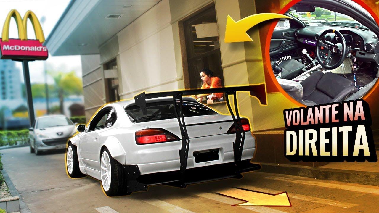 CAUSANDO NO DRIVE-THRU COM CARRO DE DRIFT  «Bruno Bär»
