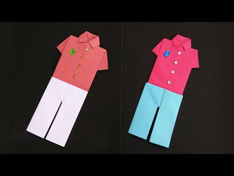 DIY Simple Origami Paper Shirt and Pant | Easy Paper Folding Origami Crafts |