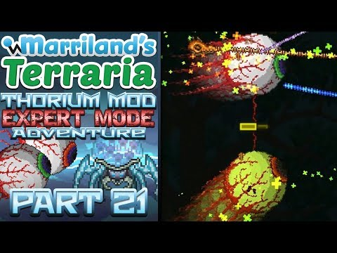 Terraria Thorium Mod, Part 21: The Twins & Borean Strider! [Expert Mode Modded Terraria] - 동영상