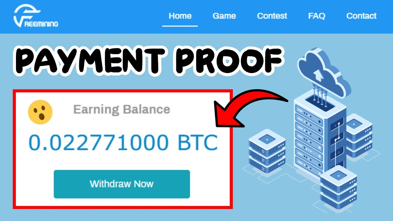 Freemining Co Free Bitcoin Cloud Mining Site 2020 I 0 002 Btc Live Payment Proof Youtube