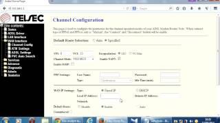 configurao modem telsec ts 9000 para ip fixo acesso remoto