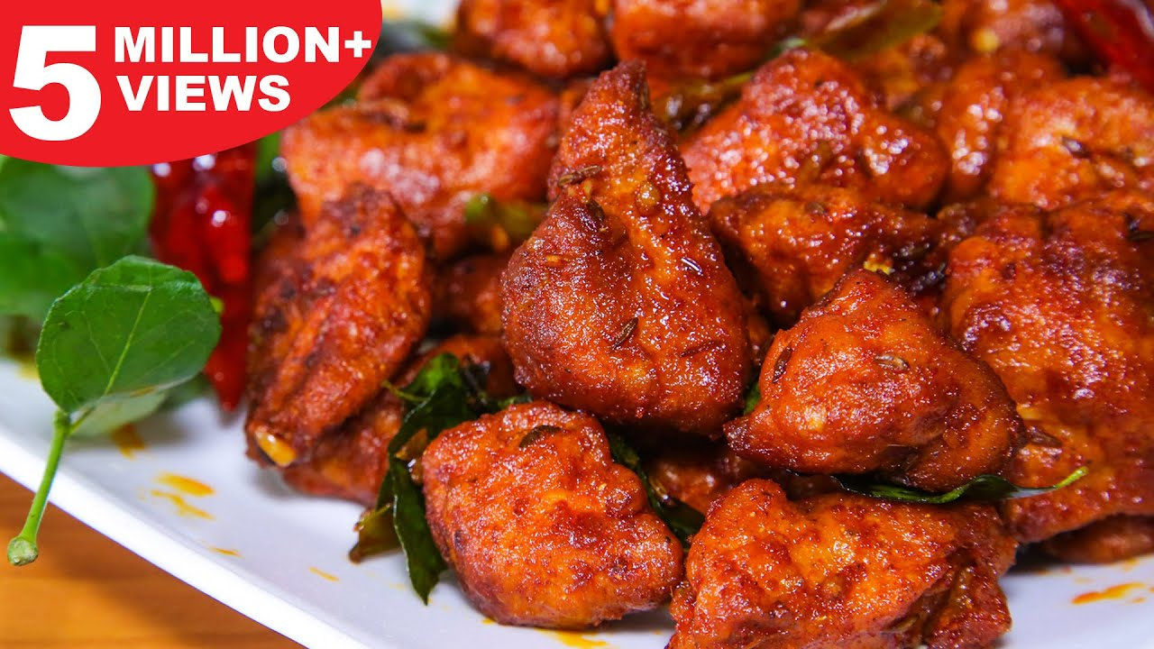 Download Chicken 65 Recipe | Hot & Spicy Chicken 65 | Restaurant Style Chicken 65 Recipe | Kanak's Kitchen