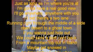 Jake Owen  Anywhere with you Lyric Video