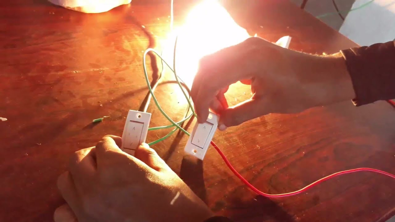 How to Wire Two Way Switch to Control One Lamp 💡| Two way switch ...