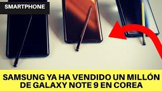 Samsung ya ha vendido un millón de Galaxy Note 9 en Corea
