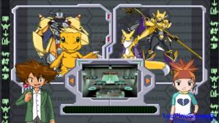 Digimon Rumble Arena Fight #1 Agumon Vs Renamon [PS1] 【Full HD】