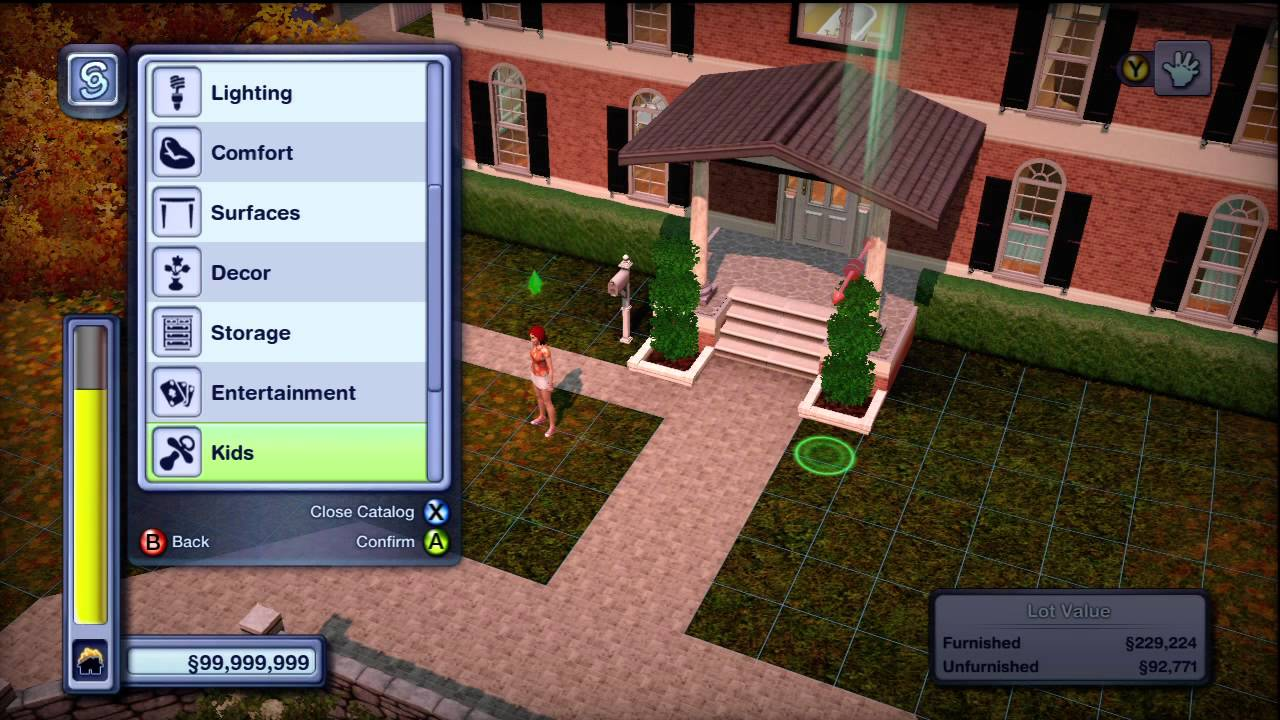 The Sims 3 Pets Xbox 360 In Depth Build And Buy Mode Catalog HD