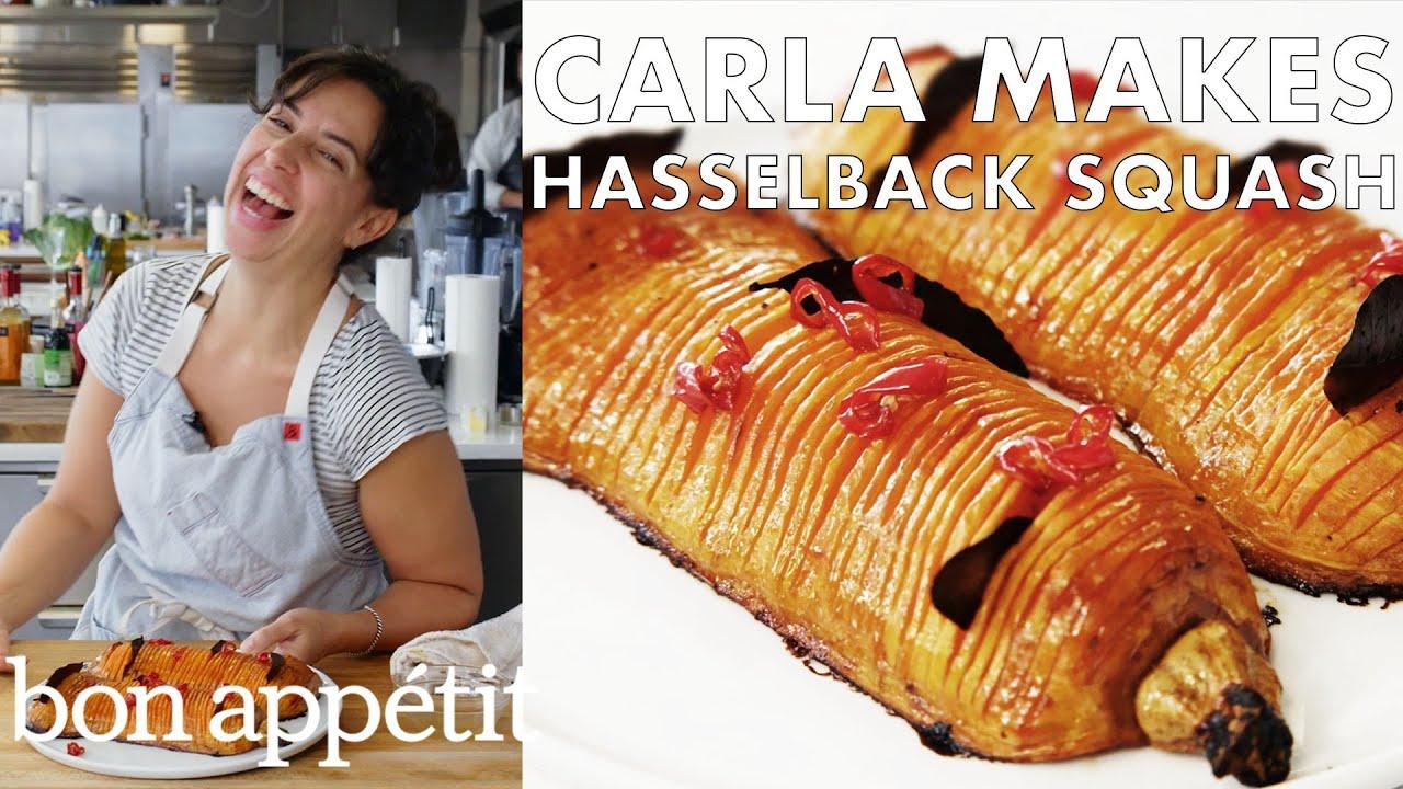 Carla Makes Hasselback Butternut Squash | From the Test Kitchen | Bon Appétit