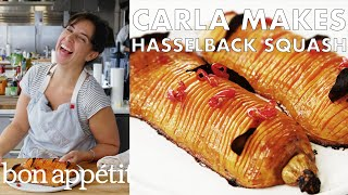 Download Carla Makes Hasselback Butternut Squash | From the Test Kitchen | Bon Appétit Mp3 and Videos
