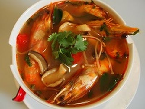 Tom Yum Goong Sweet And Sour Spicy Prawn Soup