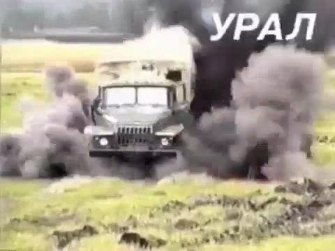 KAMAZ, URAL AND 6.5KG OF EXPLOSIVE RUSSIAN MILITARY CRASH TEST