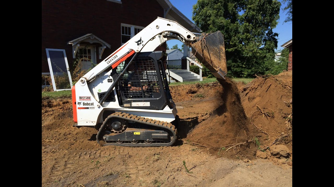 Moving The Earth With A Bobcat T450 And Ford F450 3500hd
