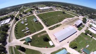 Aerial view of Midwest Old Threshers: Tents by Big Ten Rentals