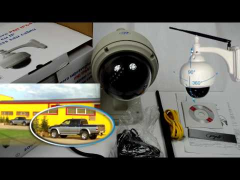 Camera supraveghere cu IP PNI IP641W dome de exterior PTZ conectare wireless sau cablu