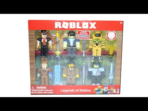 Roblox Series 2 Legends Of Roblox Set Unboxing Toy Review - legends of roblox pack