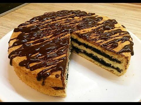 Простой торт с вареньем