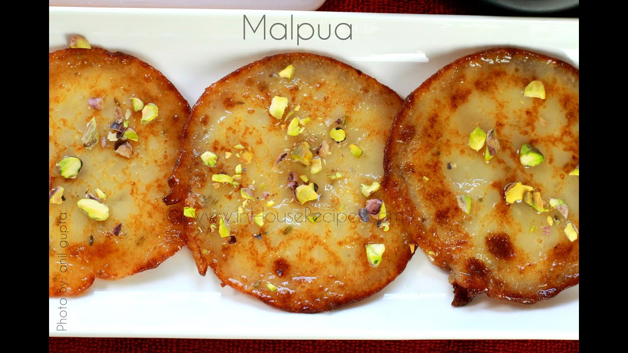 Malpua recipe indian fried dough sweet youtube forumfinder Choice Image
