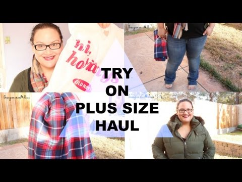 PLUS SIZE TRY ON HAUL: Old Navy   Winter Coat & Jeans