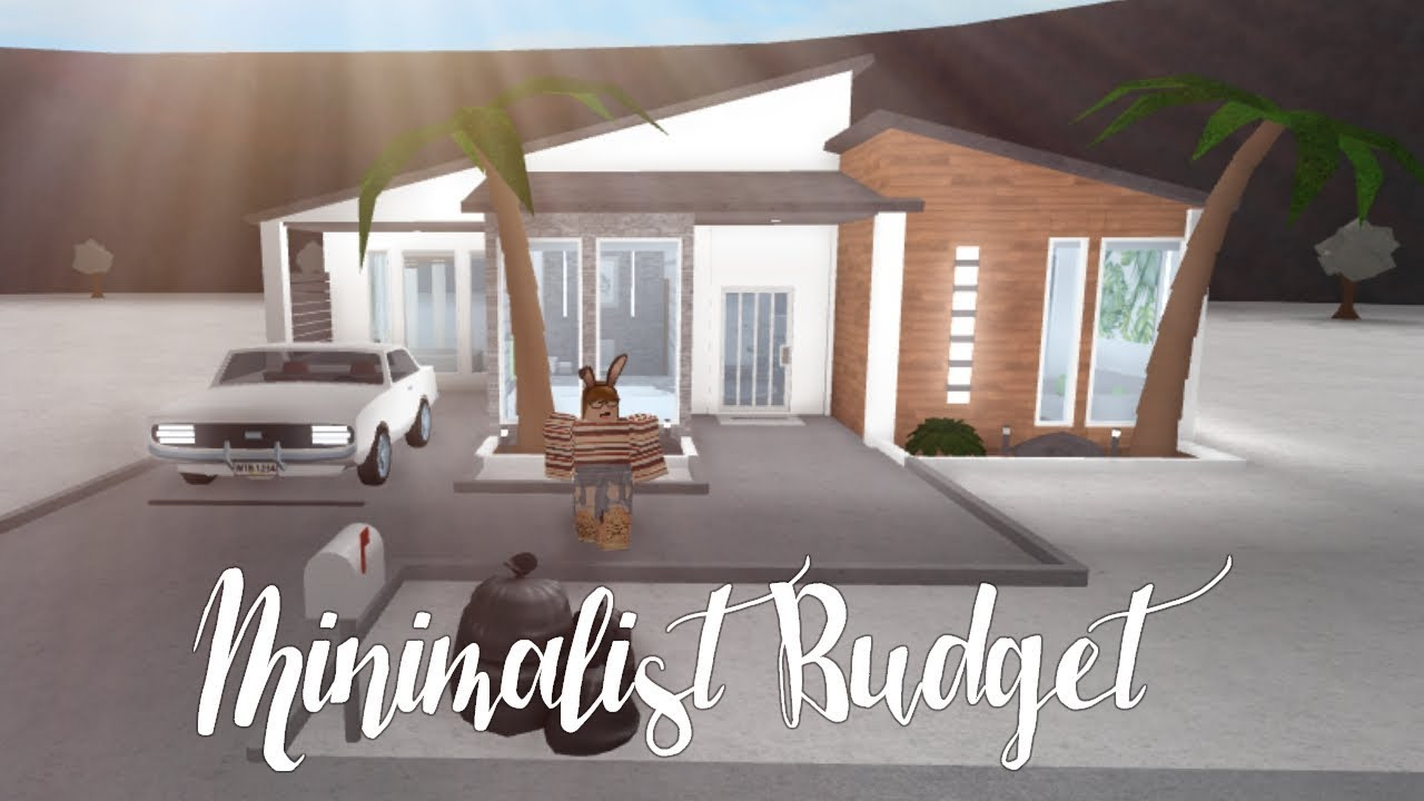 bloxburg minimalist budget house  youtube