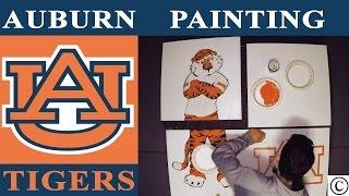 Auburn Tigers Logo PAINTING