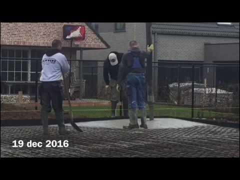 19 dec 2016 Ophasselt - Aanbrengen beton - Grondwerken PRIVE VIDEO