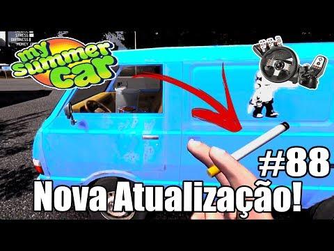 My Summer Car - NOVA ATUALIZAÇÃO: Barra de Stress e Cigarro! #88 (G27 mod)