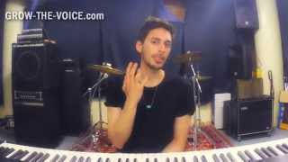 How to sing in Mixed Voice - chest voice without strain - GROW-THE-VOICE.com
