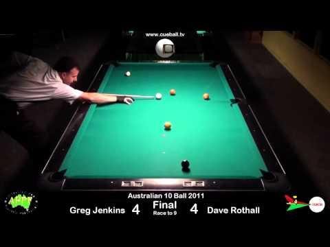 Australian 10 Ball 2011 Final Greg Jenkins v Dave Rothall
