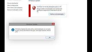 Windows update não atualizar e nem executar (resolvido)