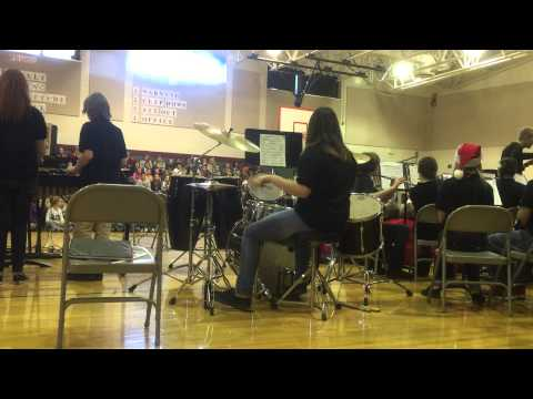 Paige playing drums w/ West Alexander Middle School Jazz Band