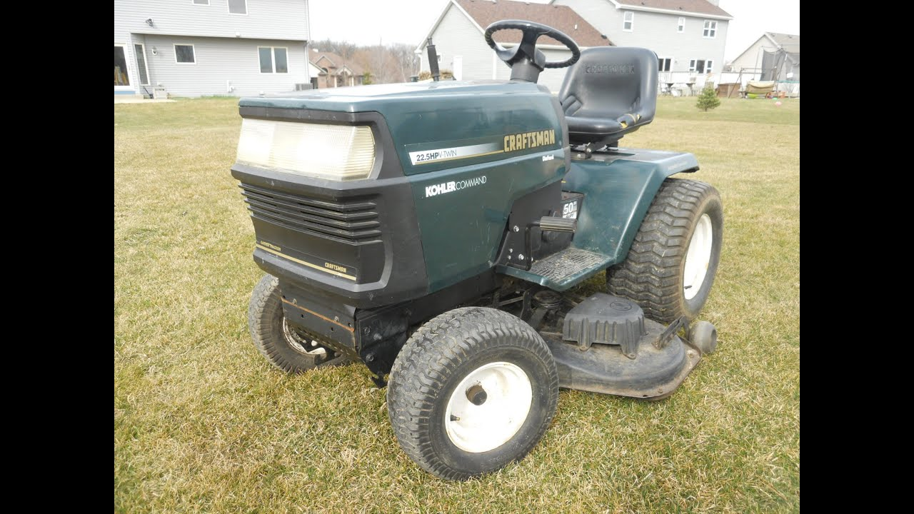REVIEW 1996 Craftsman 225HP 50 cut 917251560 YouTube