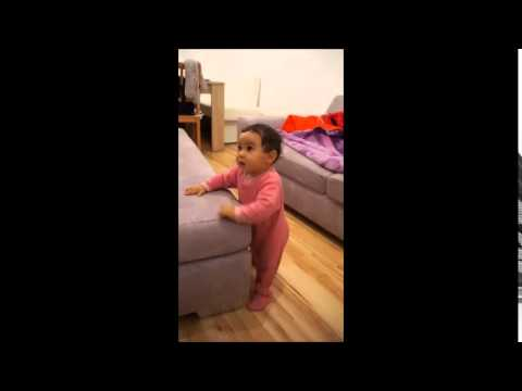 9 month old baby is dancing to Bold & Beautiful theme song