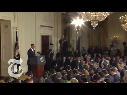 Politics: Behind a Presidential News Conference   The New York Times