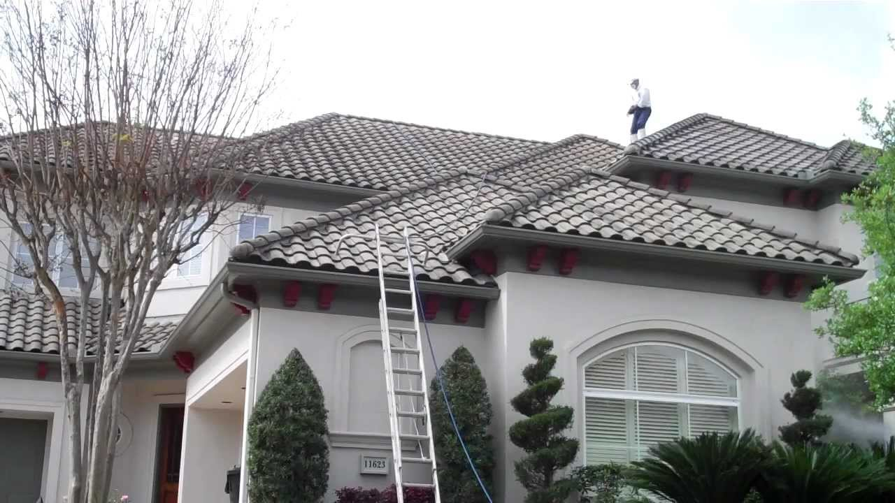 Barrel Tile Roof Cleaning In The Royal Oaks Country Club