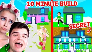 10 MINUTE BUILD CHALLENGE With My BOYFRIEND In Adopt Me! (Roblox)