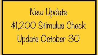 New Update! Stimulus Check & Stimulus Package Update – Friday, October 30th