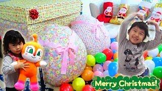 クリスマスプレゼント開けたよ♡サンタさんありがとう!!It opened Christmas gifts サプライズエッグ Surprise Egg himawari-CH thumbnail